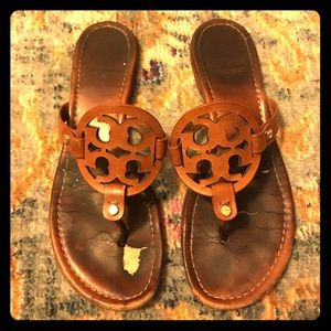 Well loved Tory Burch Miller sandals